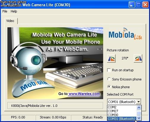 Программа от компании Warelex: Mobiola Web Camera для смартфонов на базе пл