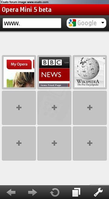 Opera Mini 5 beta.