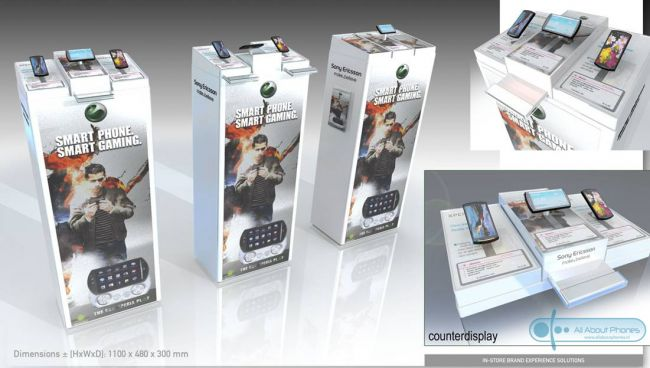 Sony Ericsson Xperia Play retail booth