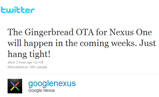 Gingerbread OTA for Nexus One