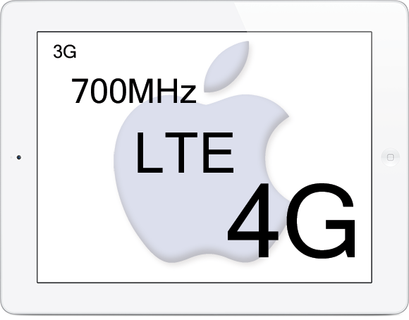 Apple Ipad 4G LTE network coverage