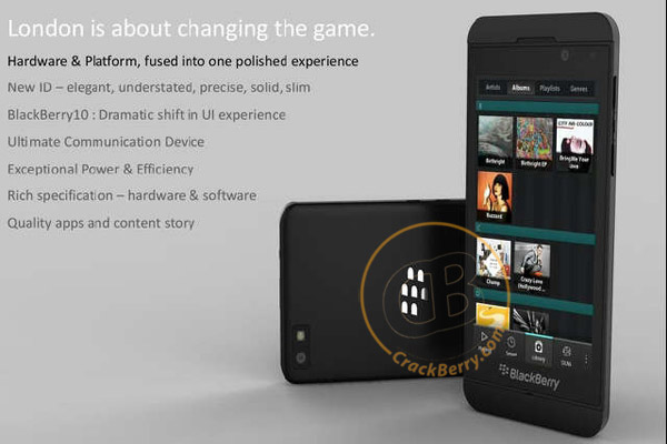 BlackBerry10 London smartphone
