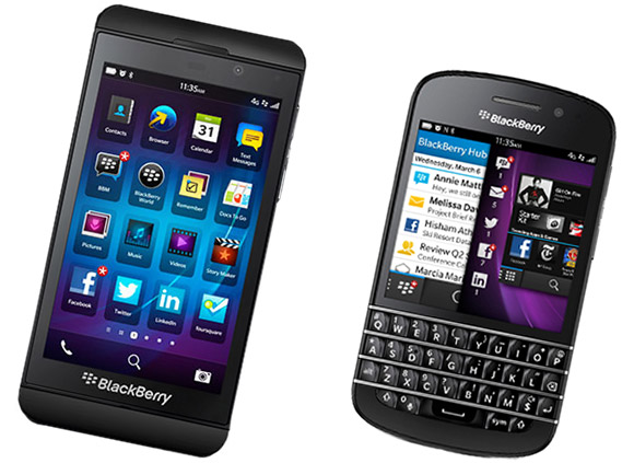 BlackBerry Z10 and Q10 announced