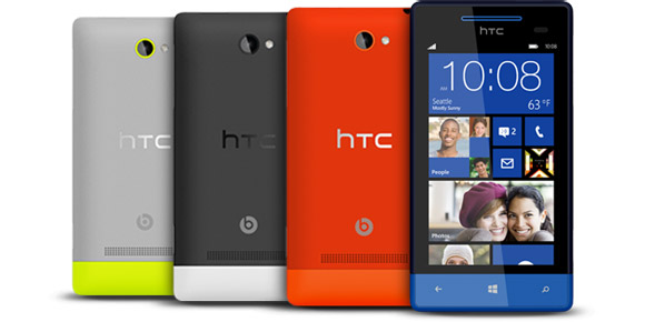 HTC Windows Phone 8S colours