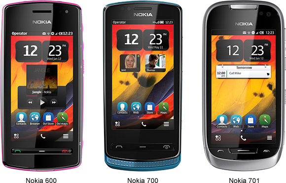 Nokia announces three new models running Symbian Belle OS