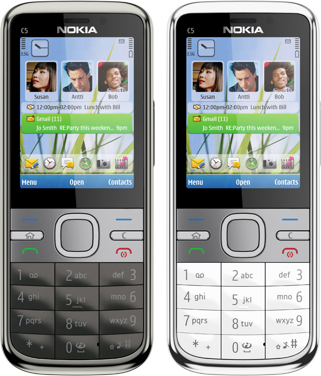 nokia c5 the first model in the new c series esato news