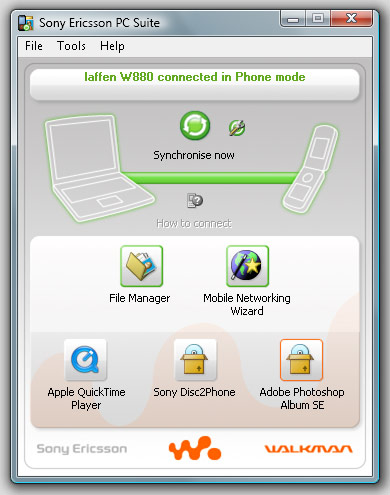 Sony Ericsson PC Suite finally available for Window Vista