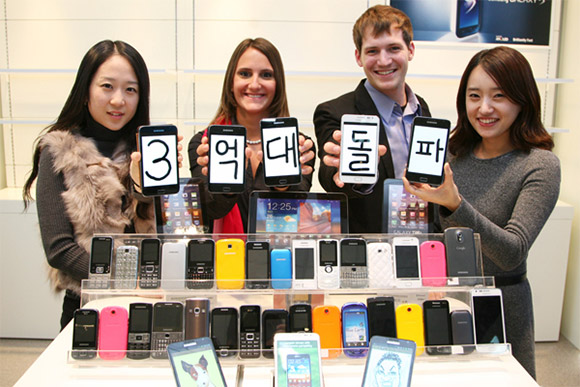 Samsung sold 300 million phones in 2011