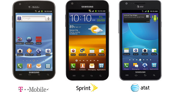 Samsung Galaxy S II for T-Mobile, Sprint and AT&T