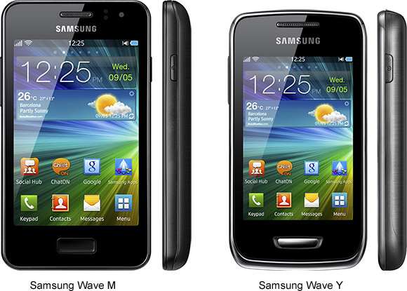 Samsung Wave M and Wave Y announced