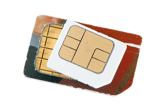 Mobile phone SIM cards - Normal and micro