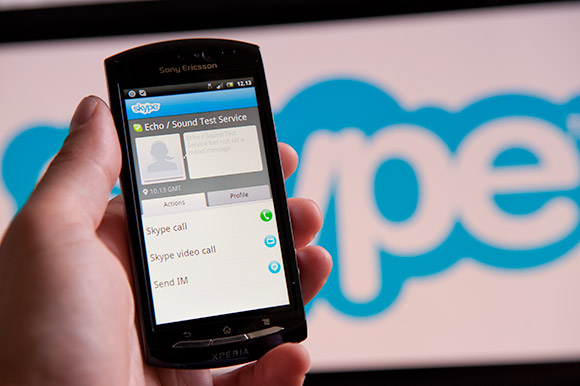 Skype Android app updated