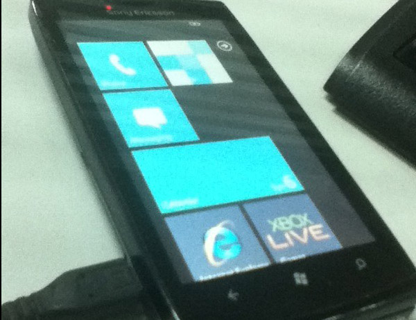 Sony Ericsson Windows Phone 7 prototype