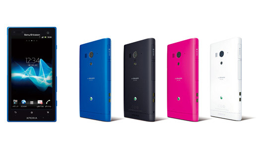 Sony Ericsson Xperia acro HD colours