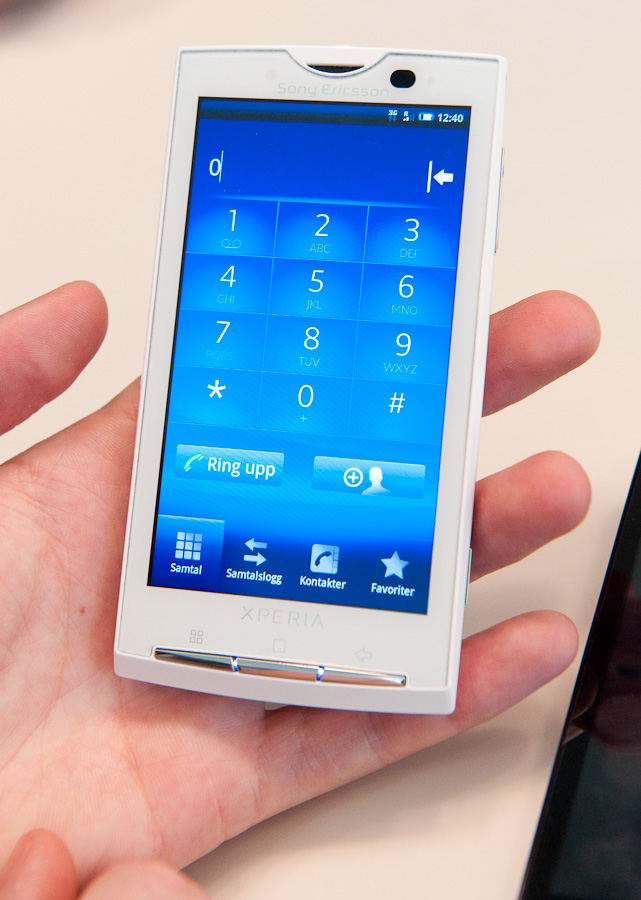 sony ericsson xperia x10 first look