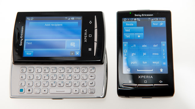 Sony Ericsson Xperia X10 Mini Pro and X10 Mini