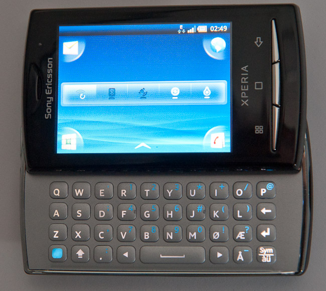 Sony Ericsson Xperia X10 Mini Pro keyboard backlight