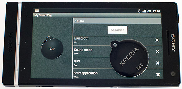 Xperia SmartTags settings for car navigation