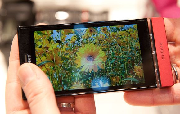 Sony Xperia P inside covering the ambient light sensor