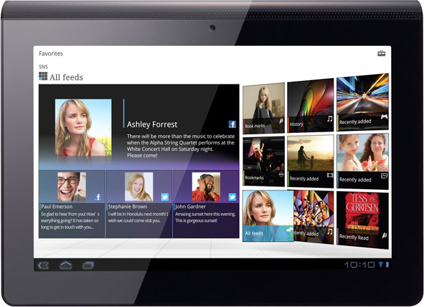 Sony S1 tablet front picture
