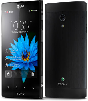 Sony Xperia Ion front back