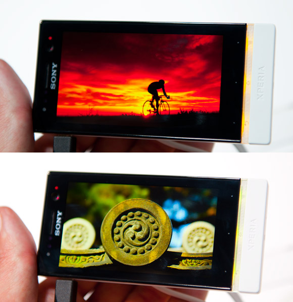 Sony Xperia U transparent element colour change