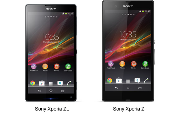 Sony Xperia Z and Sony Xperia ZL images leaked