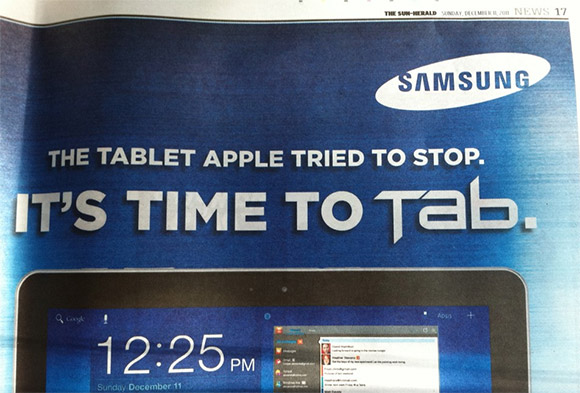The tablet Apple tried to stop - Samsung Galaxy Tab 10.1