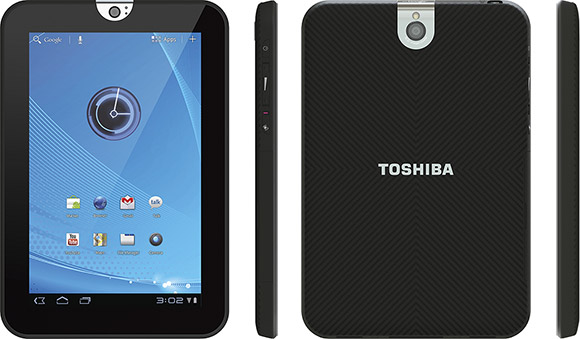 Toshiba 7-inch Thrive Tablet all sides