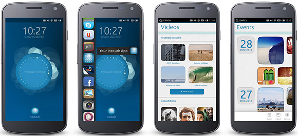 Ubuntu on a smartphone