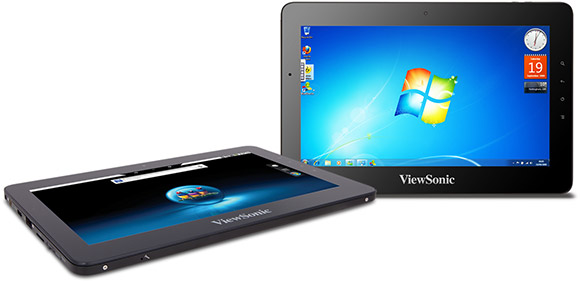 Viewsonic ViewPad 10pro dual os tablet running Android and Windows 7