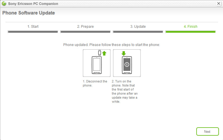 Xperia X10 Android updated to version 2.1