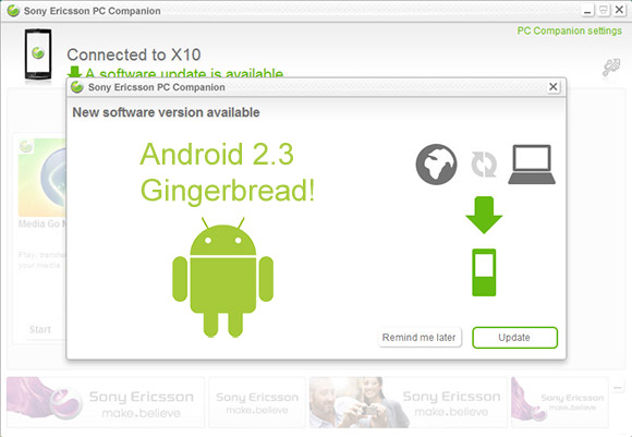 Sony Ericsson Xperia X10 to receive Android 2.3 Gingerbread update