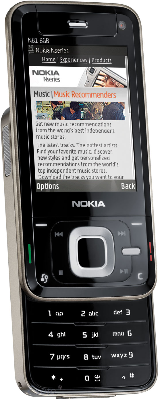 Nokia N81 8gb Picture Gallery