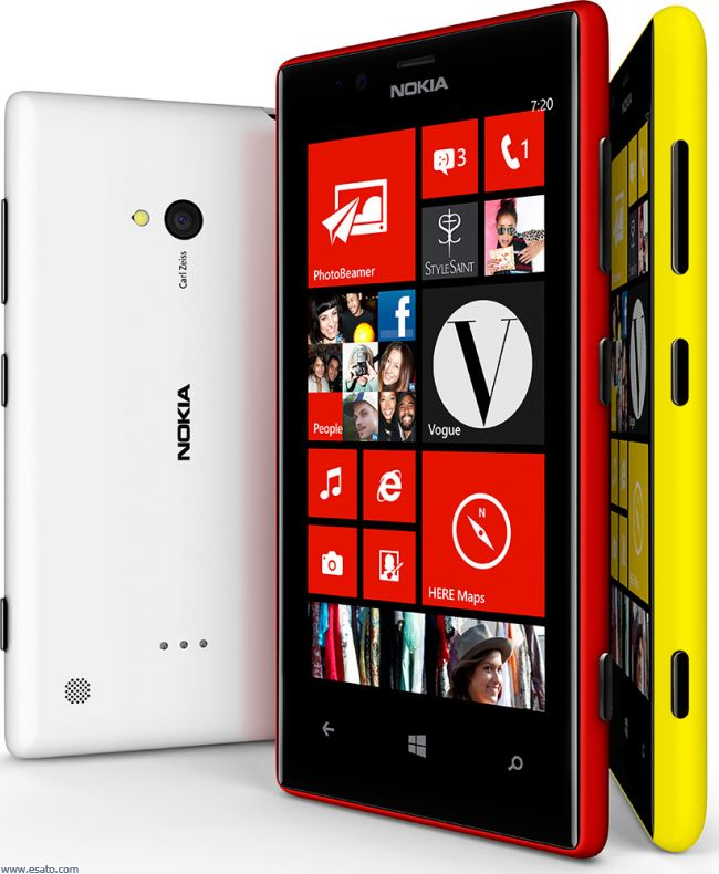 Back to Nokia Lumia 720 technical data