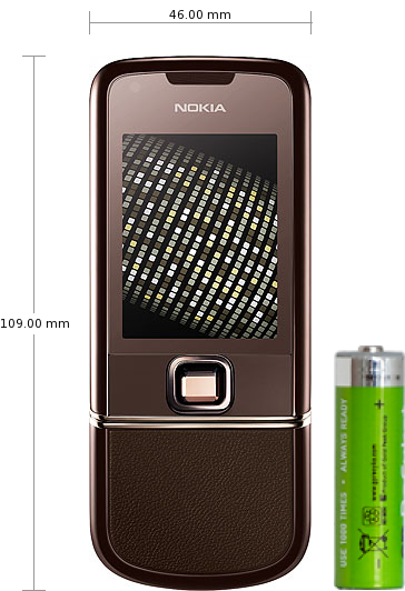 Nokia 8800 Sapphire Arte specifications and reviews