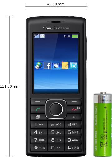 Sony Ericsson Cedar J108i specifications and reviews