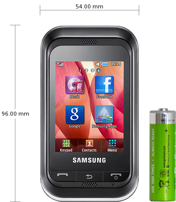 Samsung C3300 Champ specifications and reviews