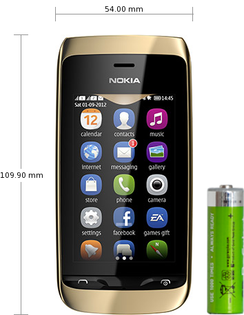 Nokia Asha 308 specifications and reviews