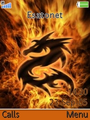 Fire theme for Sony Ericsson K810 / K810i
