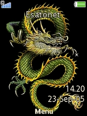 Dragon theme for Sony Ericsson T707