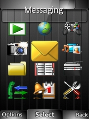 Royal black theme for Sony Ericsson Yari