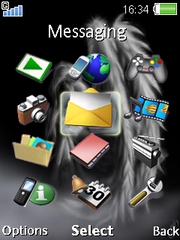 Angel W910  theme