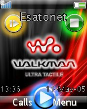 Walkman Media Player W380  theme