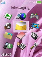 Violet Rose theme for Sony Ericsson W850 Walkman