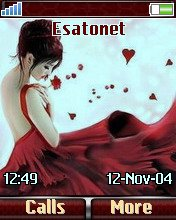 Alone red W700  theme