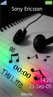 Music Clock Aino  theme