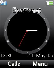 Animated Clock W610  theme