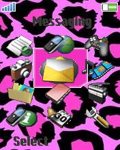 Pink leopard W810  theme