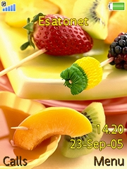 Fruit mix K810 theme